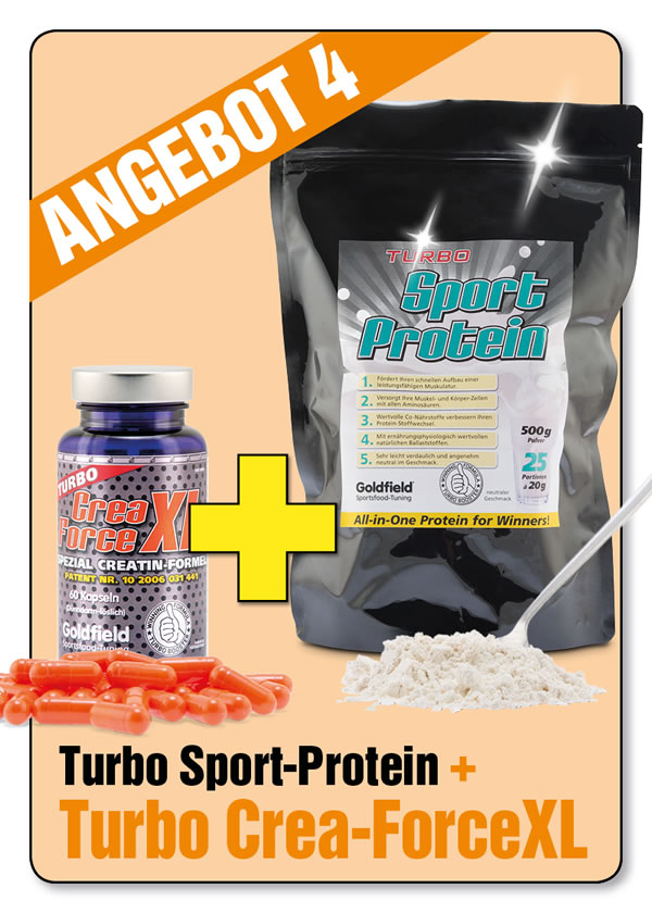 August-Monatsangebot 4:  Turbo Sport Protein + 1 Dose Turbo Crea-ForceXL