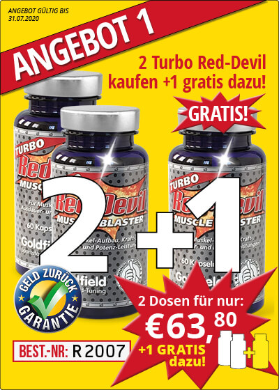 Juli-Angebot 1:  Turbo Red-Devil 2 Dosen + 1 gratis dazu